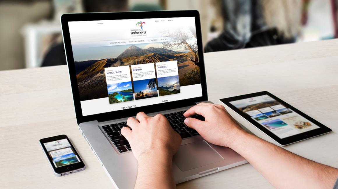 Indonesia Travel Website Desktop