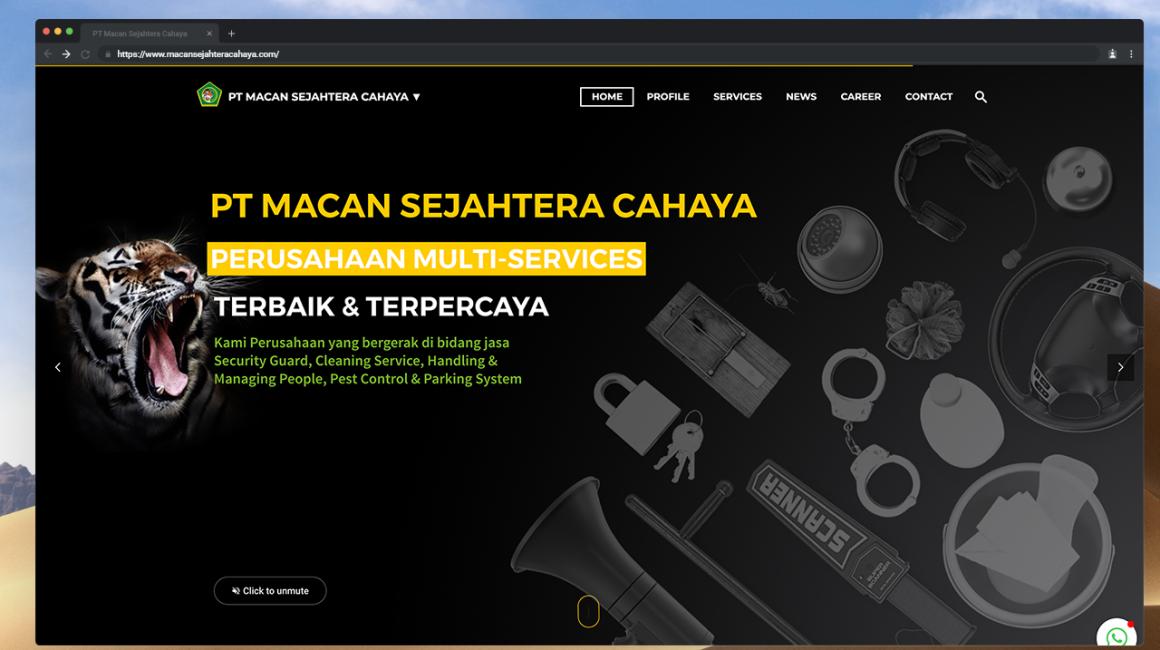 Website PT Macan Sejahtera Cahaya