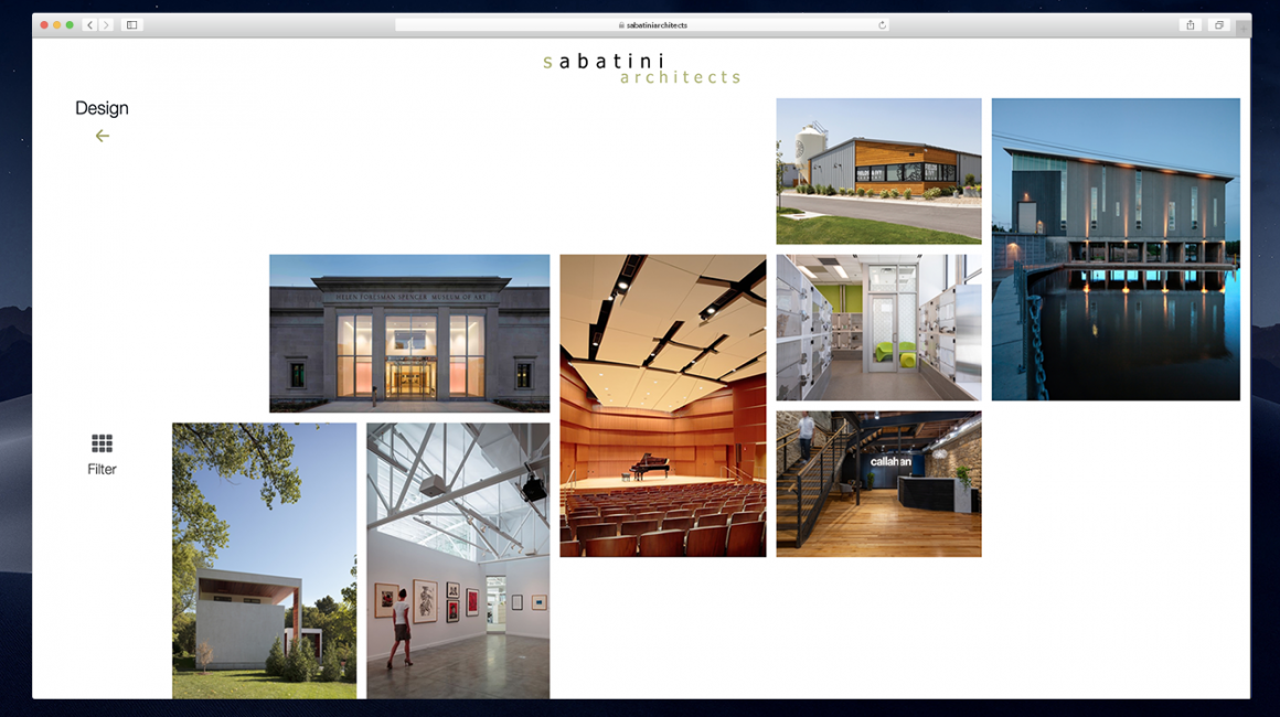 Website Sabatiniarchitects Desktop