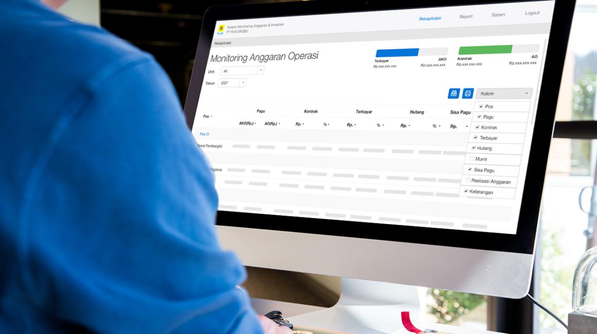 Sistem Monitoring Anggaran & Investasi PLN